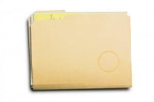 Manila file folder